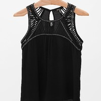 Black Beaded Tank Top
