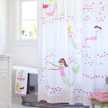 Mermaid Shower Curtain | Pottery Barn Kids
