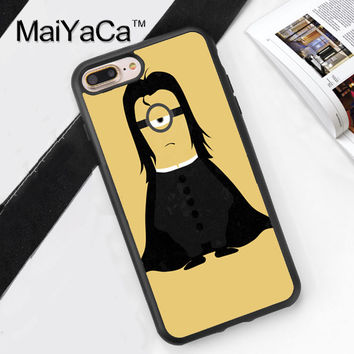 Snape Minion Harry Potter Printed Soft Rubber Phone Case For Apple iphone 6 Case For iphone 6S 6Plus 7 7Plus 5 5S 5C SE 4S Cover