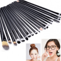 New Pro Makeup 20pcs Brushes Set Powder Foundation Eyeshadow Eyeliner Lip Brush Tool
