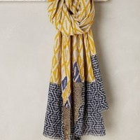 Maliparmi Sunrise Ikat Scarf in Yellow Size: One Size Scarves