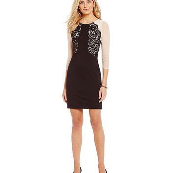 Antonio Melani Tina Ponte Lace Sheath Dress | Dillards