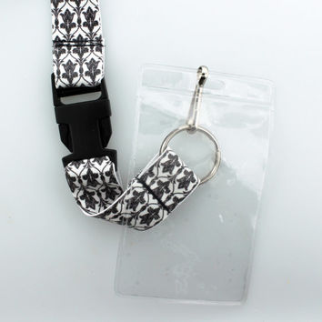 SHERLOCK BBC Wallpaper Lanyard / ID Badge Holder With Removable Clasp