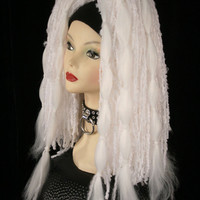 Ghost white tribal Hair falls belly dance extentions halloween costume UV -- Ready To Ship -- Sisters of the Moon