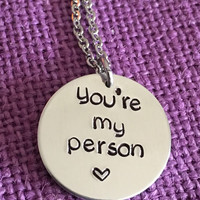 You're  my person - Best Friend Necklace - Anatomy - You're my person necklace - Youre my person jewelry - Gift for Friend