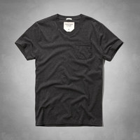 Muscle Fit V-Neck Pocket Tee
