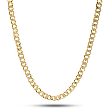 5mm King Ice 14K Gold Cuban Curb Chain