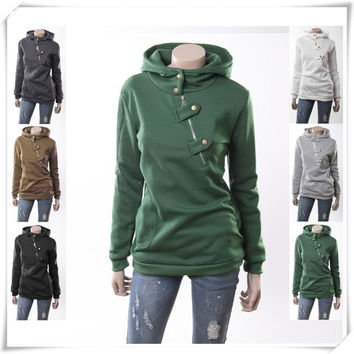 Us Siz Top Quality Specialty Stores 2015 New Fashion Autumn Style Hooded Loose Velvet Tops Women Thickening Casual Sweatshirt = 1931574916