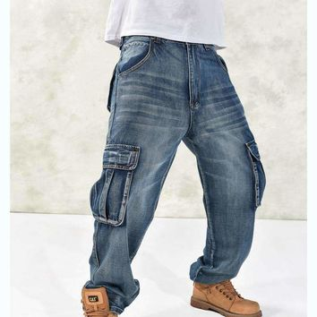 Mens Loose Multi Pockets Cargo Pants