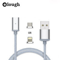 Elough 2.4A Fast Charger USB Magnetic Cable For iPhone 7 6s i6 Magnet Micro USB Cable For Samsung Xiaomi LG Mobile Phone Charge