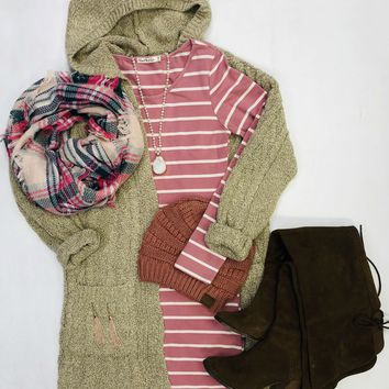 Chilly Thoughts Pink Multi Print Scarf