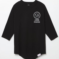 Diamond Supply Co DMND Ring Baseball T-Shirt - Mens Tee - Black