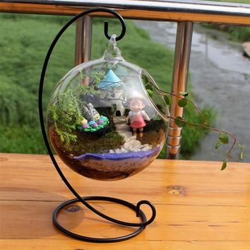 Clear Glass Ball Terrarium Succulent Hanging Flower Pot