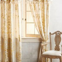 Gold Foil Curtain by Anthropologie in Gold Size: