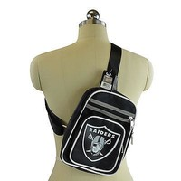 Licensed Official Brand New NFL Oakland Raiders Mini Cross Bag / Backpack