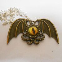 Once Upon A time Fairytale Fantasy D&D Eye monster necklace