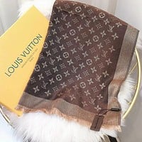 Perfect Louis Vuitton LV Women Silk Scarf Shawl Scarf