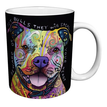 pit bull Dog mugs coffee mugs ceramic Tea mugen white mug Dishwasher&Microwave Safe porcelain tea  kitchen home decal kid mug