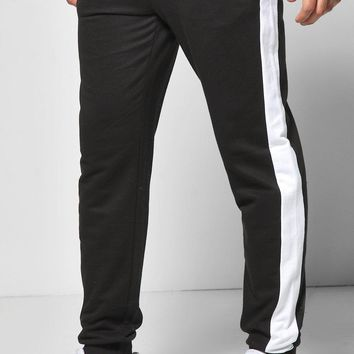 Skinny Fit Block Stripe Joggers