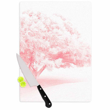 """Sylvia Coomes """"Pink Frost """" White Photography Cutting Board"""