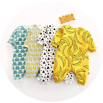 Newborn Soft Cotton Infant Baby Rompers  4 Colors