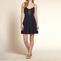 Drapey Knit Skater Dress