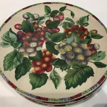 The Sakura Table Sonoma Excell Stoneware  4 Assorted Fruits Salad Dessert/Plates