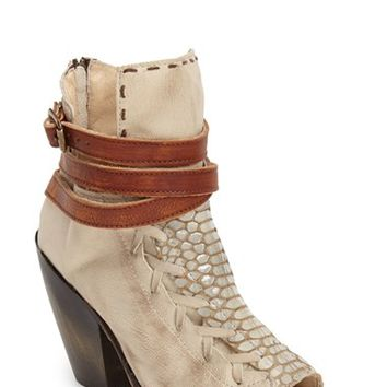 "Women's Freebird by Steven 'Eagle' Open Toe Leather Boot, 3 1/2"" heel"