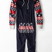 AEO 's Stars & Stripes Fleece Onesuit (Navy)