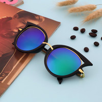 Fashion Retro Metal Frame Vintage Sexy Cat Eye Sunglasses