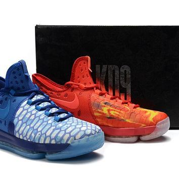 2017 Nike Zoom Kd 9 Kevin Durant Men's Ice And Fire Basketball Shoes - Beauty Ticks