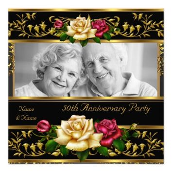 50th Wedding Anniversary Party Rose Gold Photo