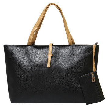 VEEVAN Fashion Leather Bags For Women 2015 Messenger Shoulder Clutch Bag Briefcases Tote School Beach Bags WFCHB0030508