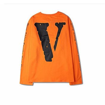 Vlone hip hop T-shirts 16s Fall new arrival Men Long-sleeved Tee oversized Drop-shoulder Hot design Tops