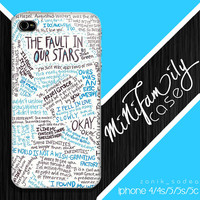 fault in our stars quotes iphone case, iphone 4 case iphone 5c case, samsung gaxaly S3 case, samsung gaxaly S4 case
