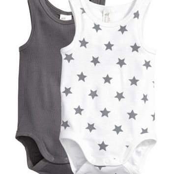 2-pack Sleeveless Bodysuits - from H&M