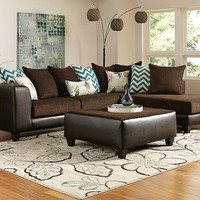 Chevron Chaise Sectional Sofa