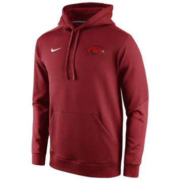 Arkansas Razorbacks Nike 2014 Sideline KO Chain Fleece Therma-FIT Hoodie – Red