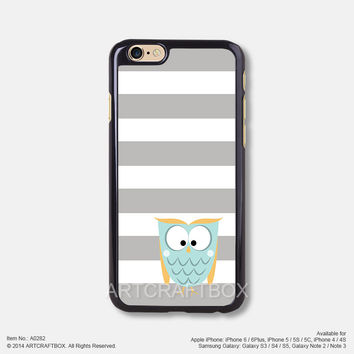 Gray Strip Island Blue owl Free Shipping iPhone 6 6Plus case iPhone 5s case iPhone 5C case 282