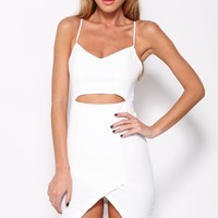 Heavy Crown Dress White
