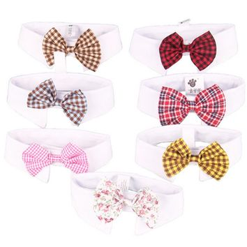7 Patterns Cat Dog Tie Wedding Accessories Dogs Bowtie Collar Holiday Decoration Christmas Grooming Pet Supplies #2
