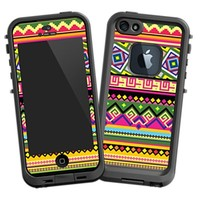 Happy Bright Tribal Skin for iPhone 5 Lifeproof Case