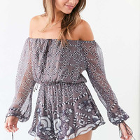 The Jetset Diaries La Cucaracha Off-The-Shoulder Romper - Urban Outfitters
