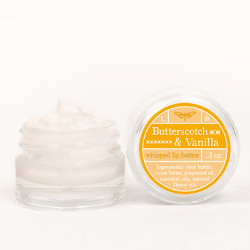 Whipped Lip Butter - Butterscotch & Vanilla - Natural Icing for Your Lips