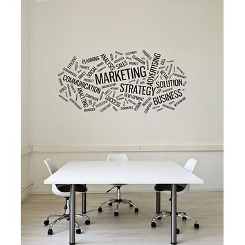 Vinyl Wall Decal Marketing Business Words Office Space Interior Art Stickers Mural (ig5762)