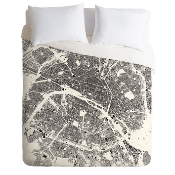 CityFabric Inc Paris White Duvet Cover