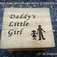 Father's day, music box, wedding favor, father of bride gift, personalized gift, wedding gift, Daddy's girl, simplycoolgifts, for Dad