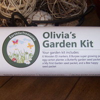 Child's garden kit, personalized kid's garden kit