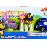 Paw Patrol Adventure Bay Rescue Animal Rescue Set, Chase & Skye