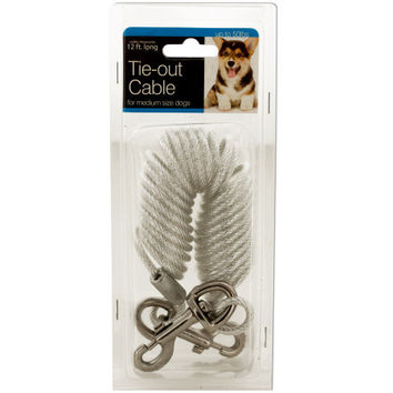 Tie-Out Cable for Medium Size Dogs ( Case of 4 )